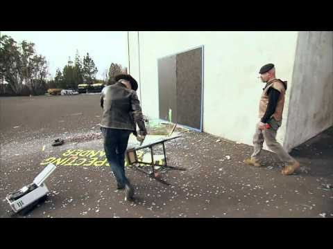 MythBusters | Can falling glass slice you in two?