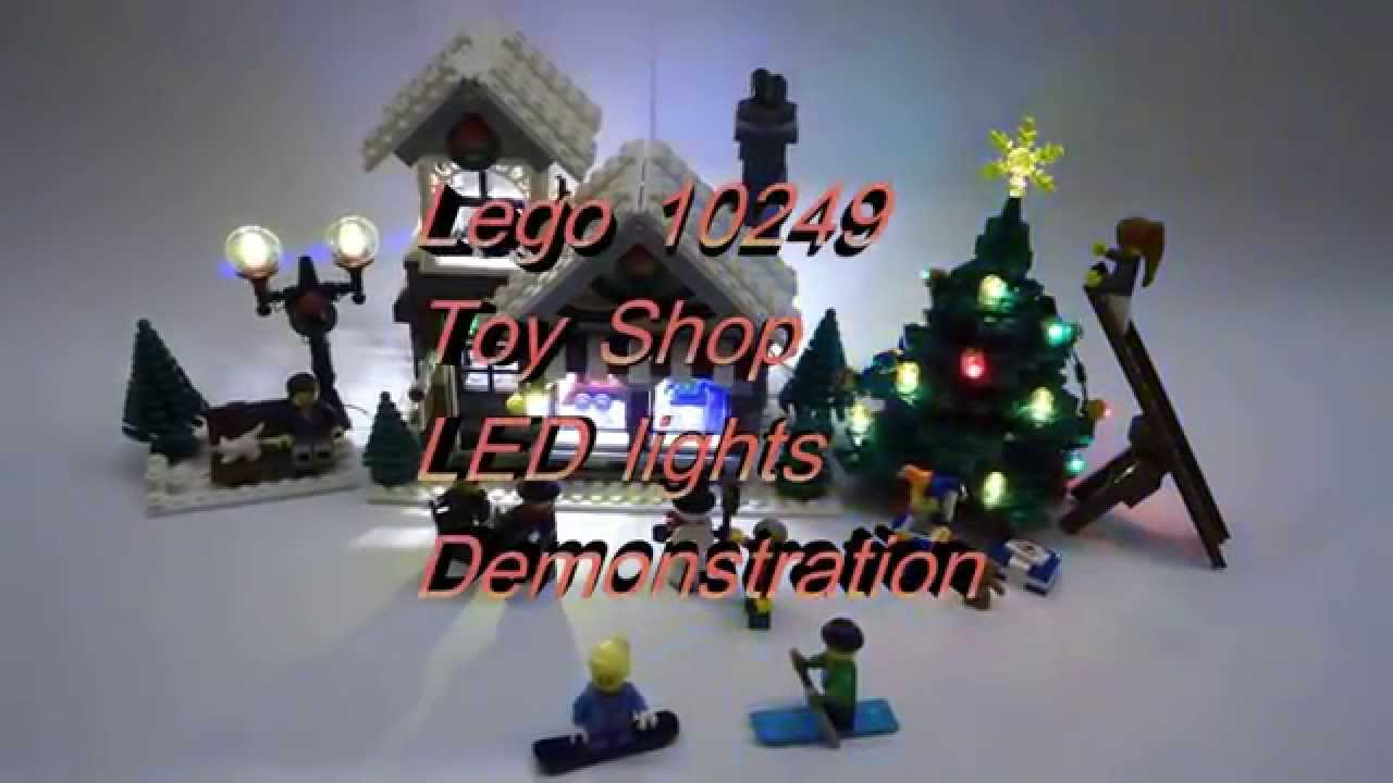 Lego 10249 Winter Toy Shop Led Demo Youtube Exclusive
