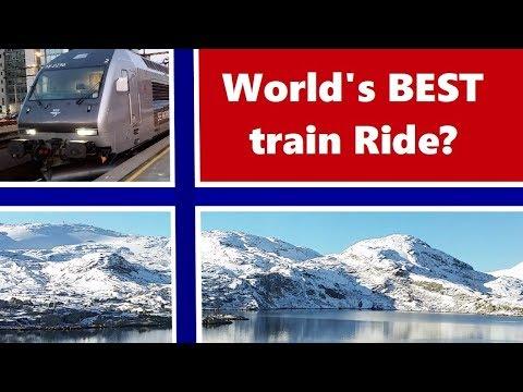 World's best train ride?  Bergen to Oslo train journey trip report