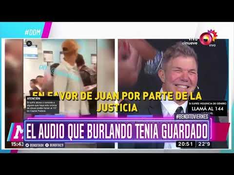 El audio que Burlando tenía guardado