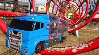 12 Disney Cars & Takara Tomy Cleanup Convoy!