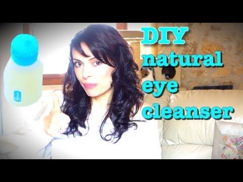 DIY natural biphasic eye makeup remover tutorial