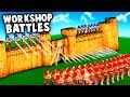 Epic Fortress Sieges!  NEW Update - Steam Mods (Wooden Battles Gameplay)