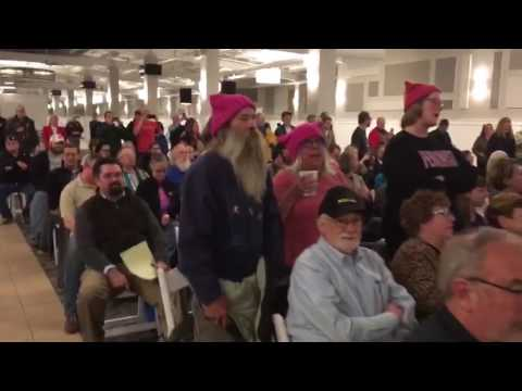 Separation of Church and State!': Leftist Activists Disrupt Michigan Town Hall