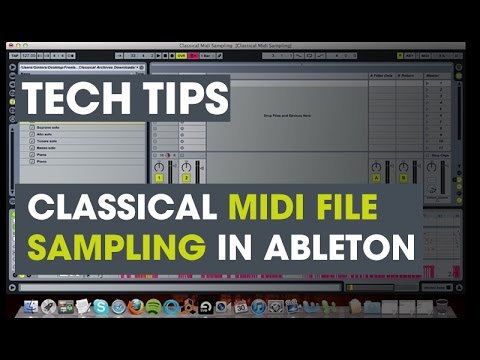 Classical MIDI file sampling in Ableton