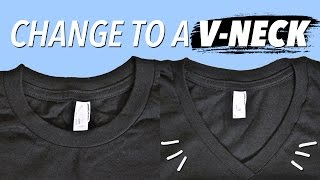 How to Make a V-Neck from a Crewneck | WITHWENDY