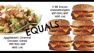 Equals & Alternatives Episode 48: Applebee's Oriental Chicken Salad And 5 Bacon Cheeseburgers