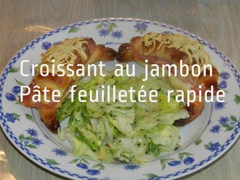 pâte-feuilletée-rapide:-mini-croissants-jambon-sauce-béchamel