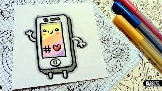 kawaii drawings iphone easy draw garbi kw lzx