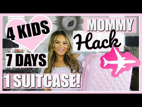MOMMY TRAVEL HACK! HOW I PACK 4 KIDS IN 1 SUITCASE!