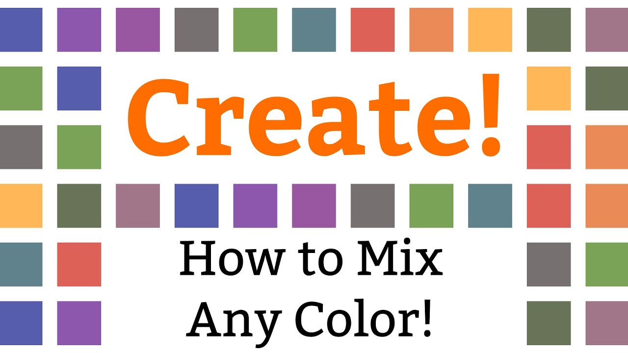 How To Mix Any Color Or Creating Charts