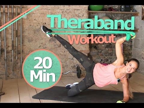 Theraband Übungen - 20 Min Gummiband Workout für Anfänger und Fortgeschrittene - Zuhause trainieren