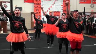 Stoughton High Pep Rally 2017: Powderpuff Cheerleaders