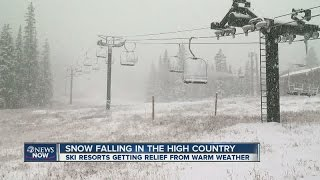 SNOW! Ski resorts getting relief from warm weather