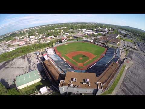 Herschel Greer Stadium Nashville Tennessee Drone Flyover DJI Phantom 2 GoPro Hero