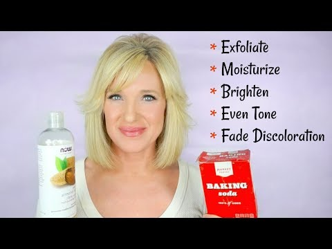How To EXFOLIATE With BAKING SODA! Reduce WRINKLES & DISCOLORATION! (Look Younger)