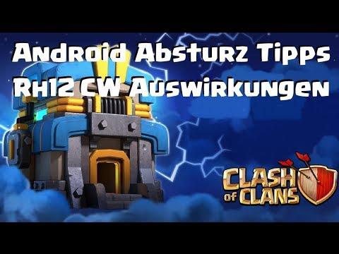 [496] COC Android Hilfe Tipps | Rh12 CW Auswirkungen? Clash of Clans Crash Deutsch COC