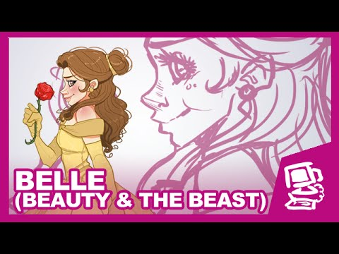 Let S Draw Belle Beauty Amp The Beast Youtube