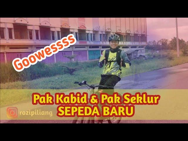 Pak Kabid dan Pak Seklur Gowes Dengan Sepeda MTB Baru