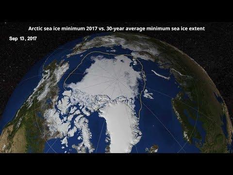 Arctic sea ice minimum 2017