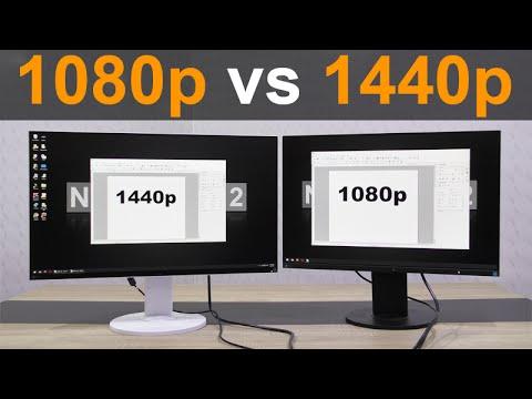 1080p vs 1440p Monitor - YouTube