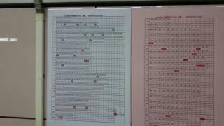【試運転の時刻がわかる】東京メトロ日比谷線秋葉原駅の時刻表を撮影 thumbnail