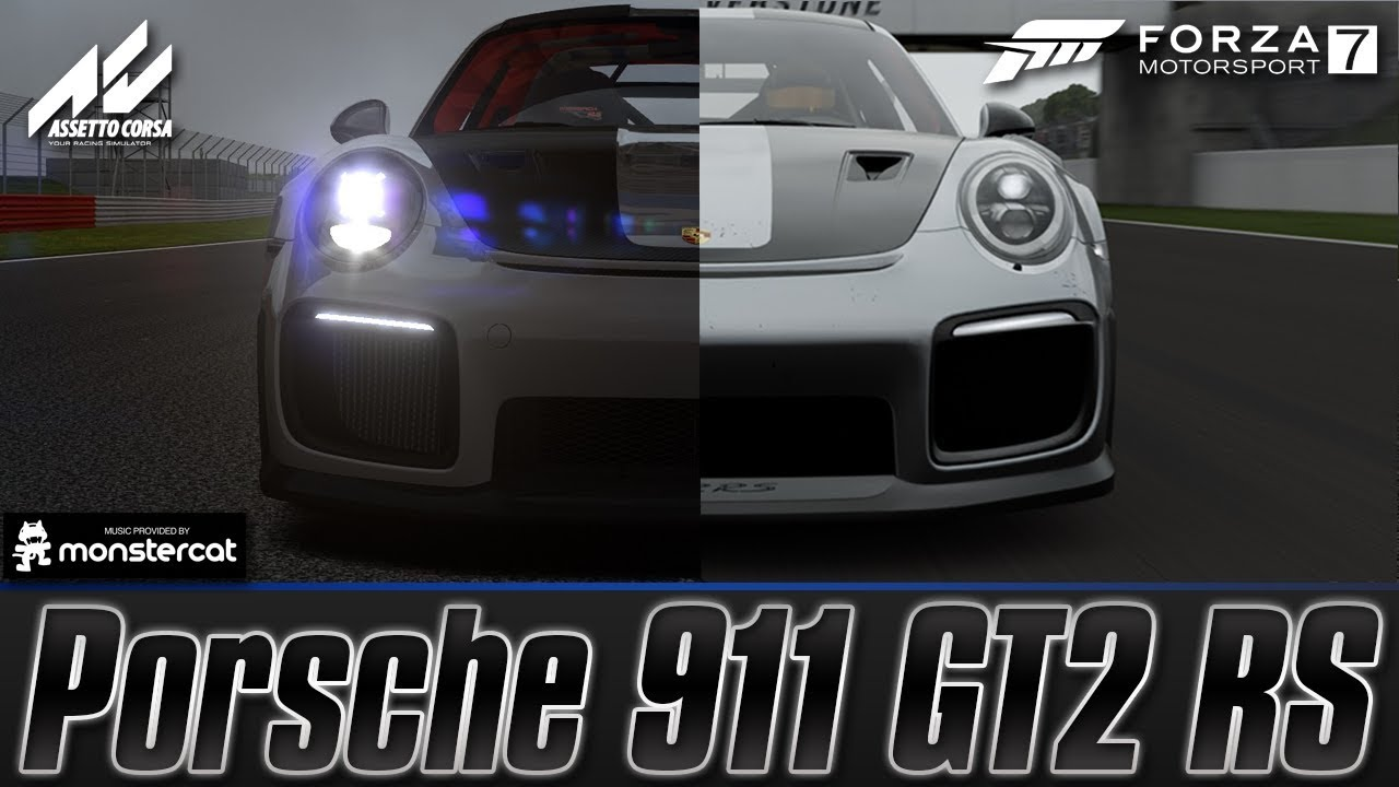 forza motorsport 7 vs assetto corsa porsche 911 gt2 rs silverstone grand prix circuit youtube. Black Bedroom Furniture Sets. Home Design Ideas
