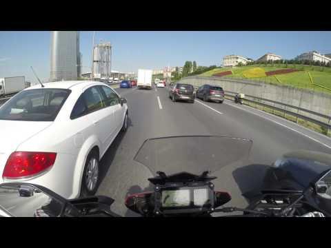 Tekirdağ-İstanbul otoban sürüşü az action.  Yamaha tracer 900 part-1