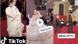 Download lagu Celebrity Tik Tok Grammy Glambot Red carpet-Billie Eliish, Ariana Grande and Brat Pitt
