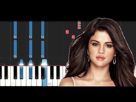 Selena Gomez - Back To You (Piano Tutorial) - How To Play - Chords