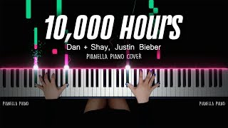 Dan + Shay, Justin Bieber - 10,000 Hours (Piano Cover with Lyrics) by Pianella Piano Video
