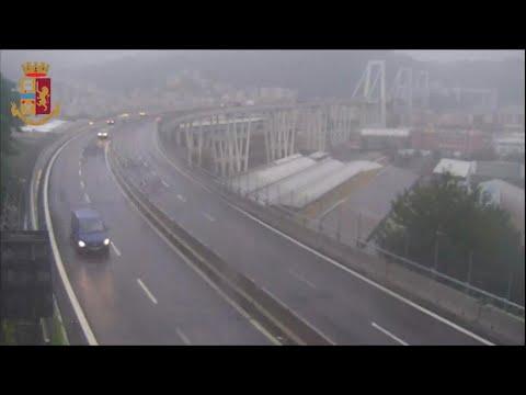 Ponte Morandi, nuovo video subito prima del crollo
