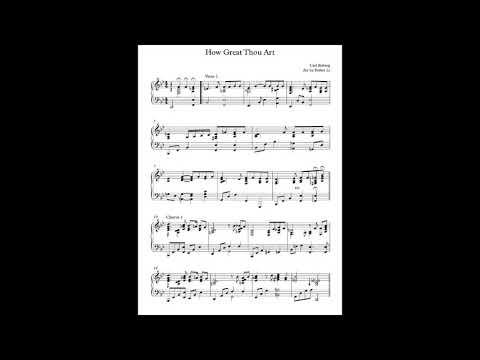 """How great thou art"" gospel jazz piano sheet music. Song request below!!"