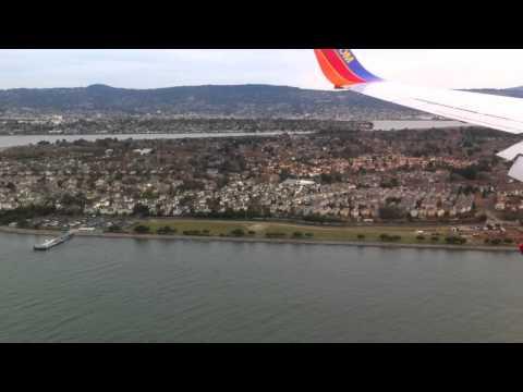 Landing in Oakland Airport on a Southwest Flight