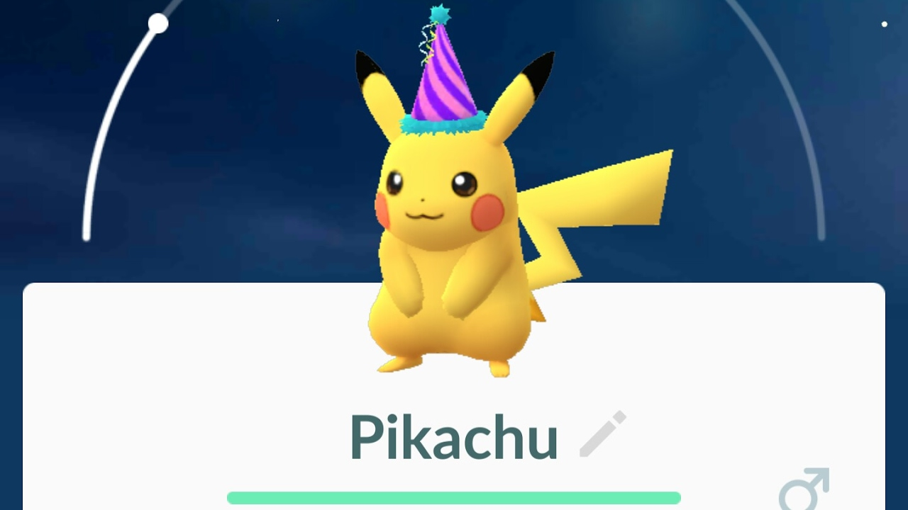 A Wild Party Hat Pikachu Has Appeared! Cool Pikachu With A ...