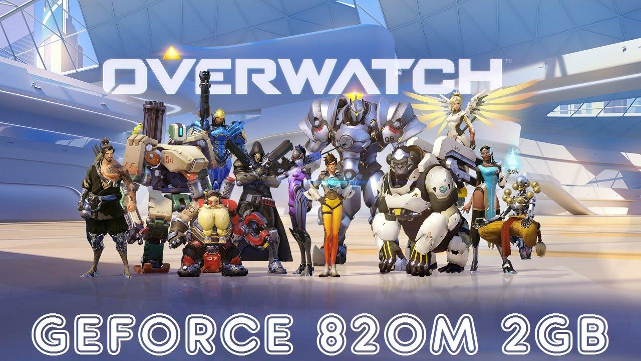 OVERWATCH GAMEPLAY GEFORCE 820M 2GB