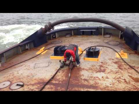 Towing a barge