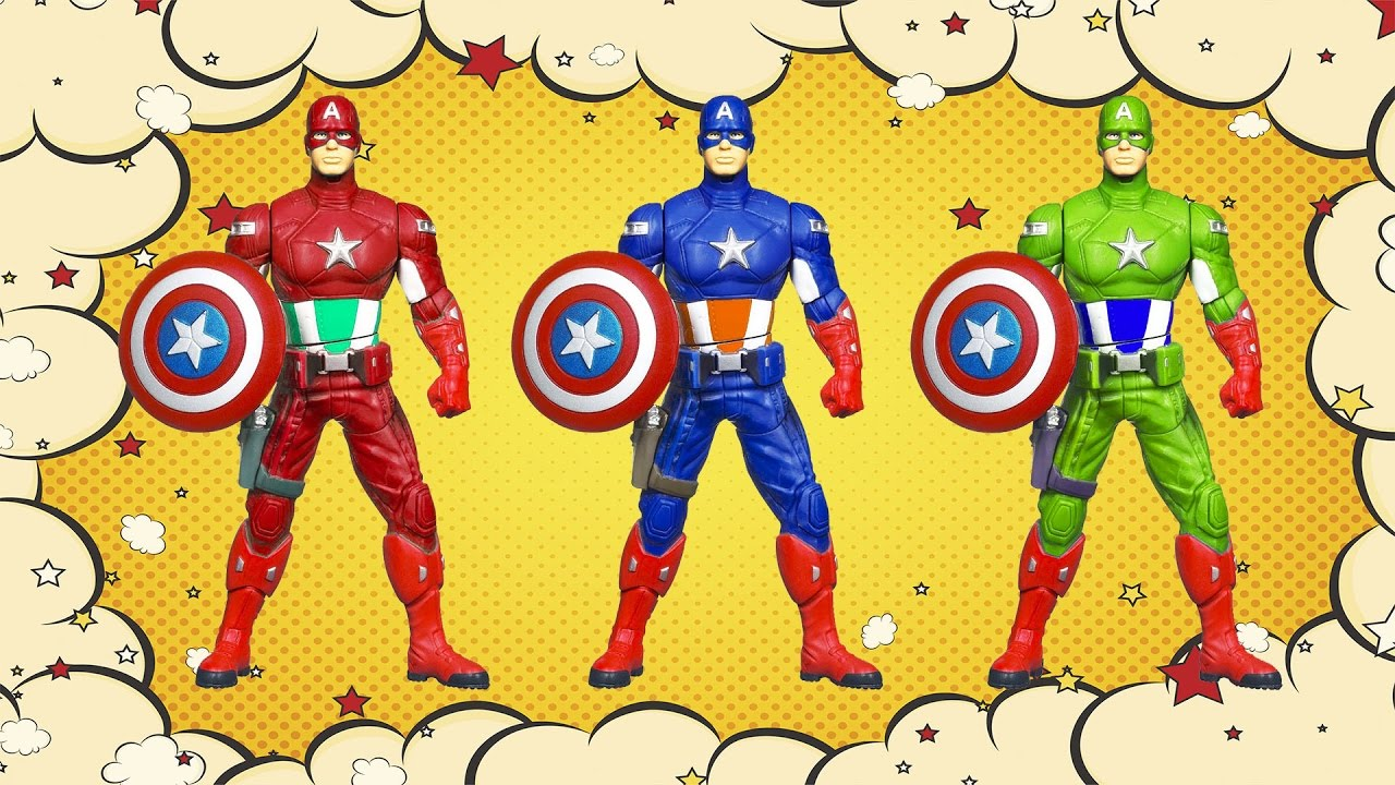 Captain America Cartoon Images: Learn Colors With Captain America Cartoon