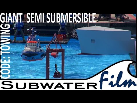 BIG RC Model SEMI-SUBMERSIBLE in tow / HALBTAUCHER im Schlepp - Subwaterfilm