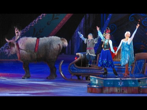 Frozen Disney on Ice show highlights with Anna, Elsa, Hans, Olaf, Sven, Kristoff skating