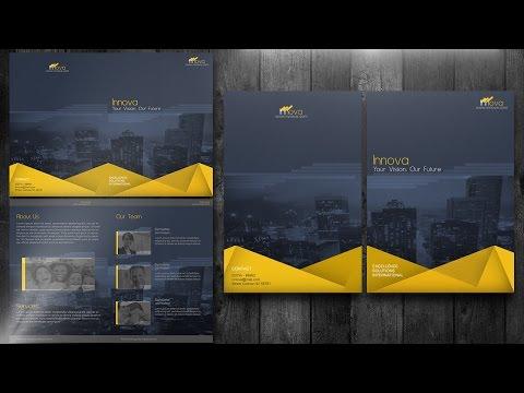 Create a Bi Fold Brochure Photoshop Tutorial