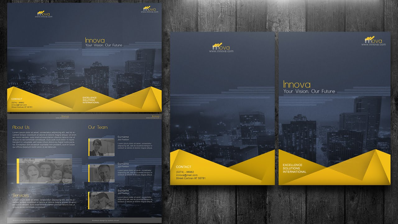 create a bi fold brochure photoshop tutorial youtube