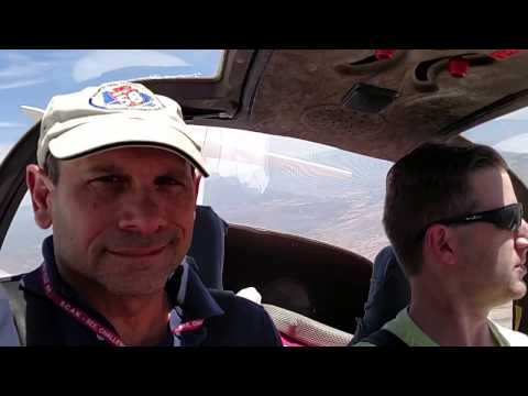 Motor Glider Flight. Arizona desert/close mountains at 27 minutes.