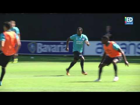 Eerste training Siem de Jong bij PSV