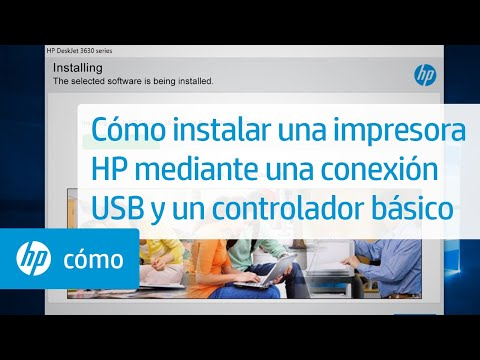 Cómo instalar una impresora HP mediante una conexión USB y un controlador básico | HP Printers | HP