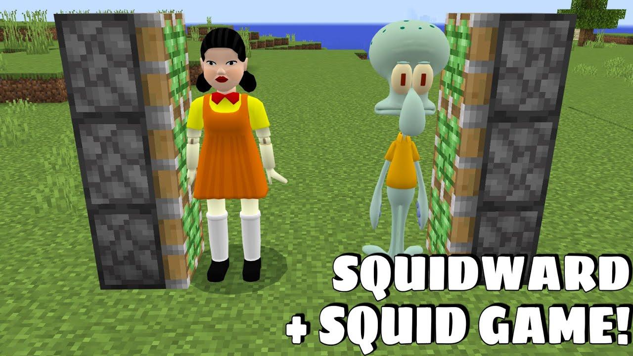 Download SQUID GAME DOLL PLUS SQUIDWARD Gameplay in Minecraft - Coffin Meme