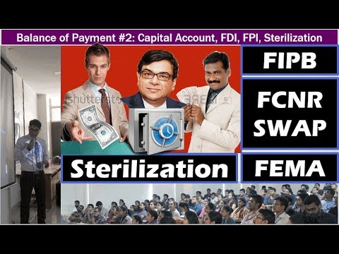 BoP#2: Capital Account- Sterilization, FIPB Abolition, FCNR Swap Crisis, Demonetization Impact