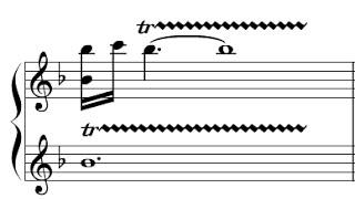 Exemplo para trinado em oitava - Versão 3