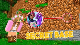 HOW to SNEAK into a FORTNITE SECRET BASE IN MINECRAFT !! w/ Little Kelly