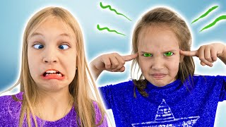 Amelia and Avelina try super powers, funny stories for kids